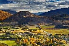 krajobrazowy halny nowy Zealand Obraz Royalty Free
