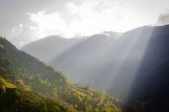 krajobrazowy halny panoramiczny krajobrazowa Himalaje góra Obrazy Royalty Free