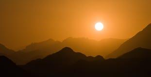 krajobrazowy halny zmierzch Zdjęcie Royalty Free