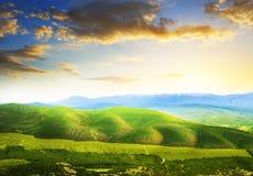 krajobrazowy halny zmierzch Fotografia Stock