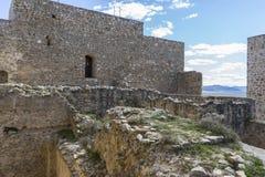 Krajobrazowy hiszpański, miasteczko Consuegra w prowinci Toledo, Obrazy Royalty Free