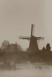 krajobrazowy Holendera wiatraczek Zdjęcia Royalty Free
