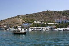 krajobrazowy jacht Zdjęcie Royalty Free