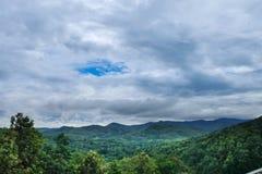 Krajobrazowy las na szczyciefal tg0 0n w tym stadium tamy Obraz Royalty Free