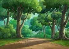Krajobrazowy lasowy dzień ilustracja wektor