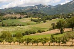 krajobrazowy Lazio Umbria Zdjęcia Royalty Free