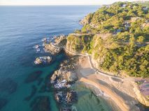 Krajobrazowy Lloret De Mar, Hiszpania zdjęcia stock