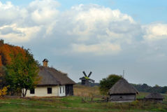 krajobrazowy młyński wiejski Fotografia Stock