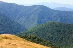 krajobrazowy mglisty halny lato Zdjęcia Stock