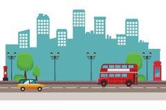Krajobrazowy miasto miastowy royalty ilustracja