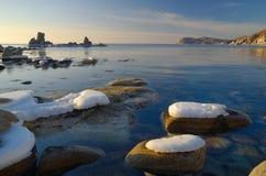 krajobrazowy morski ranek Zdjęcia Stock