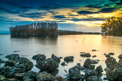 Krajobrazowy morze w Thailand Obrazy Stock
