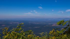 Krajobrazowy Mpumalanga Południowa Afryka od cudu widoku punktu obserwacyjnego Fotografia Stock