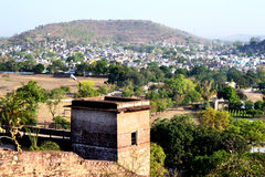 Krajobrazowy narsinghgarh miasteczko, członek parlamentu, India Obrazy Stock
