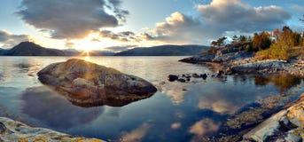 krajobrazowy norweg Zdjęcia Stock