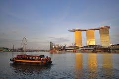 krajobrazowy nowy kurort Singapore Zdjęcia Stock