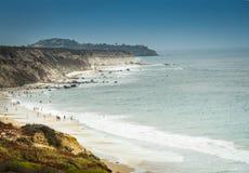Krajobrazowy obrazek południowego Kalifornia plaża w lecie Zdjęcia Royalty Free