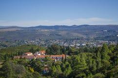 Krajobrazowy odgórny widok miasto Zdjęcia Stock