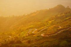 krajobrazowy północny wschód słońca Thailand Zdjęcie Stock