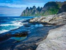 krajobrazowy północny norweg fotografia stock