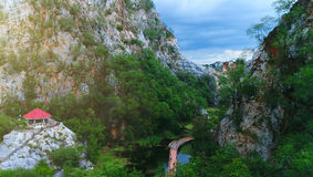 Krajobrazowy park w górze Fotografia Stock