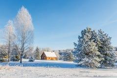 Krajobrazowy pobliski dom malarz Repin. Obrazy Royalty Free