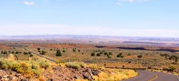 Krajobrazowy pobliski zmierzchu krateru wulkan Zdjęcia Royalty Free