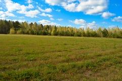 Krajobrazowy pole i niebo Zdjęcia Royalty Free