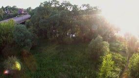 Krajobrazowy powietrzny wideo - pogodny ranek zdjęcie wideo