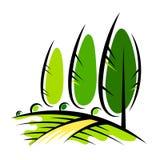Krajobrazowy projekt i rolnictwo ilustracji