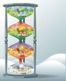 Krajobrazowy projekt ustawia z zimą, wiosna, lato, jesień ilustracja wektor