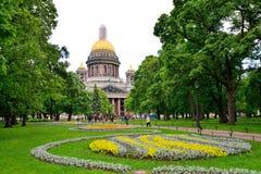 Krajobrazowy projekt w Aleksander ogródzie na tle St Fotografia Royalty Free