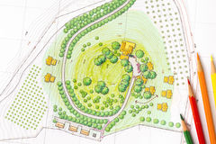 Krajobrazowy projekta plan Zdjęcie Royalty Free
