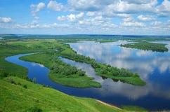krajobrazowy rzeczny Volga Obrazy Royalty Free