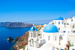 Krajobrazowy Santorini Zdjęcia Stock
