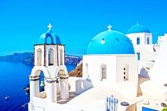 Krajobrazowy Santorini Obrazy Royalty Free