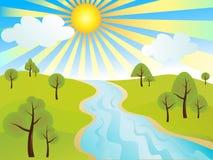 krajobrazowy spokojny ilustracji
