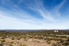 Krajobrazowy Sutherland - widok od Sutherland obserwatorium Zdjęcia Stock