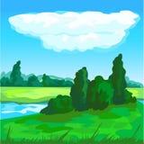 Krajobrazowy tło Obrazy Royalty Free