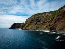 Krajobrazowy Topo Sao Jorge Azores fotografia royalty free