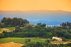 krajobrazowy Tuscany Zdjęcie Stock