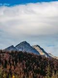 Krajobrazowy Vysoke Tatry w jesieni 22 Fotografia Royalty Free