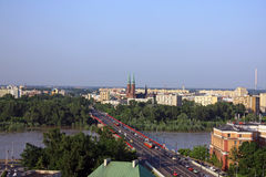 krajobrazowy Warsaw Zdjęcie Stock