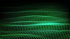 Krajobrazowy wektor Cyber pojęcie futurystyczna grafika Reliefowa struktura Energii przestrzeń Terenoznawstwo kod Szyka projekt 3 royalty ilustracja