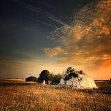 Krajobrazowy whit dom Zdjęcia Stock