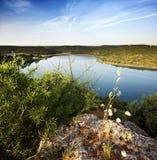 Krajobrazowy whit jezioro Fotografia Stock