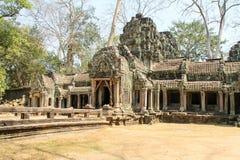 Krajobrazowy widok świątynie przy Angkor Wat, Siem Przeprowadza żniwa, Kambodża Fotografia Stock