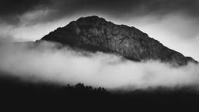 Krajobrazowy widok Bistr góra b/w Obrazy Stock