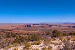 Krajobrazowy widok blisko Kolorado rzecznych jarów, usa Fotografia Stock