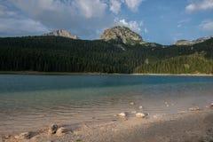 Krajobrazowy widok Czarny jezioro w Durmitor Obraz Royalty Free